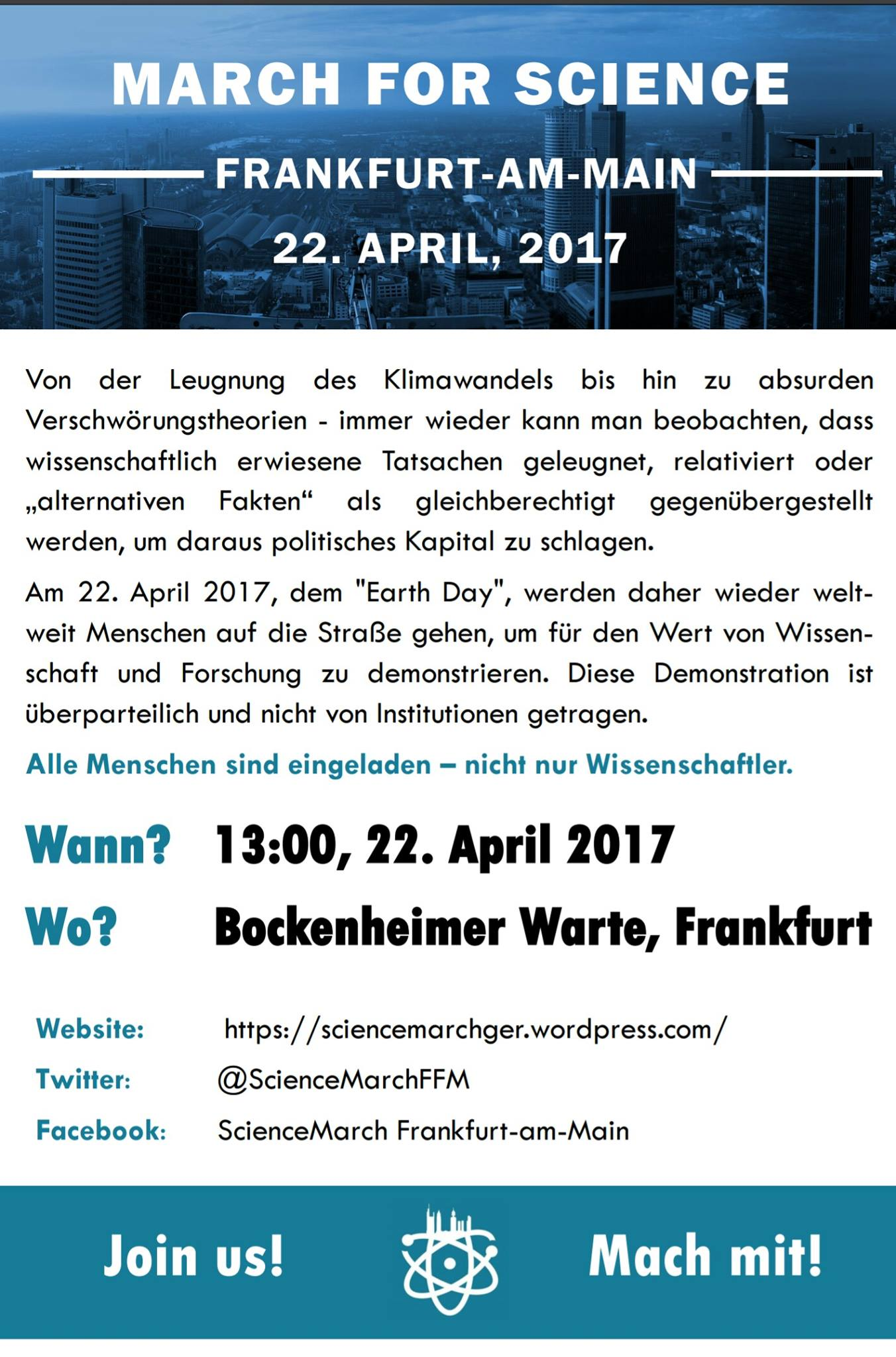 ScienceMarch Frankfurt